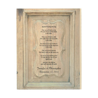 Apache Wedding Blessing Old Wood Background 8x10 Wood Wall Decor