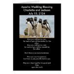 Apache Wedding Blessing Penguins Card