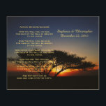 "Apache Wedding Blessing Personalized Rustic Art<br><div class=""desc"">INWORK This beautiful apache wedding blessing, which begins with ""now you shall feel no rain ... "", is made into an rustic 10"" x 8"" wood wall hanging. The background is our original photo of a solitary lone acacia tree at fiery red sunrise. There is sample text on the top...</div>"