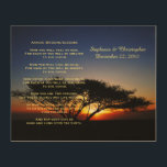 """Apache Wedding Blessing Personalized Rustic Art<br><div class=""""desc"""">INWORK This beautiful apache wedding blessing, which begins with """"now you shall feel no rain ... """", is made into an rustic 10"""" x 8"""" wood wall hanging. The background is our original photo of a solitary lone acacia tree at fiery red sunrise. There is sample text on the top...</div>"""