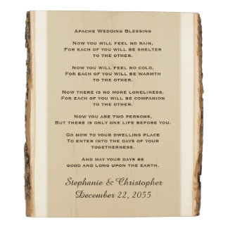 Apache Wedding Blessing Personalized Rustic Art