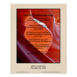 """Apache Wedding Blessing Poster 16"""" x 20"""""""