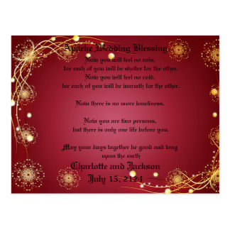 Apache Wedding Blessing Red Postcard
