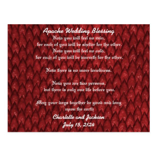 Apache Wedding Blessing Red Snake Postcard