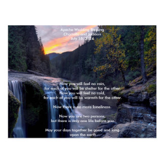 Apache Wedding Blessing River Postcard