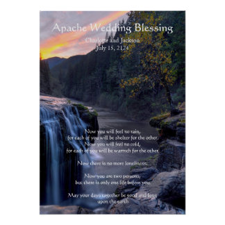 Apache Wedding Blessing River Posters