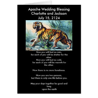 Apache Wedding Blessing Saber Toothed Tiger Card