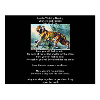 Apache Wedding Blessing Saber Toothed Tiger Postcard