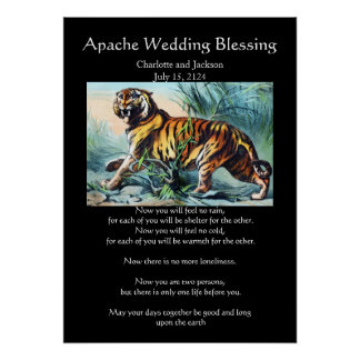 Apache Wedding Blessing Saber Toothed Tiger Posters
