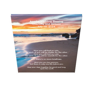 Apache Wedding Blessing Sandy Beach Oceanfront Canvas Print