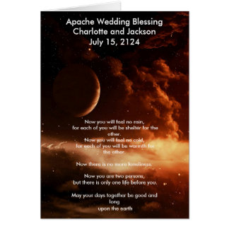 Apache Wedding Blessing Universe Card