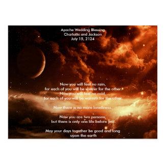 Apache Wedding Blessing Universe Postcard