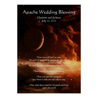 Apache Wedding Blessing Universe Poster