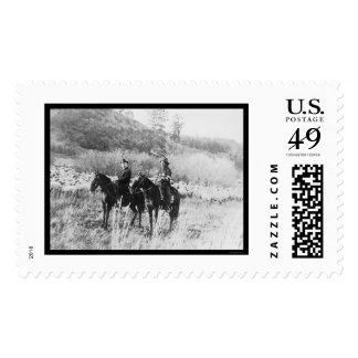Apache with the Indian Commissioner 1918 Postage Stamp