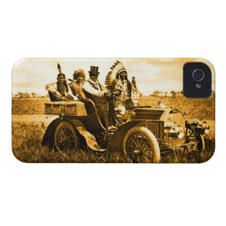 APACHES AND GERONIMO DRIVING A MOTOR CAR iPhone 4 CASE