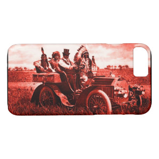 APACHES AND GERONIMO DRIVING A MOTOR CAR iPhone 8/7 CASE