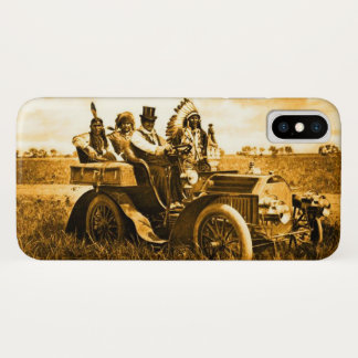 APACHES AND GERONIMO DRIVING A MOTOR CAR iPhone X CASE