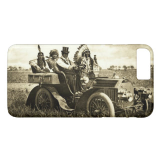 APACHES AND GERONIMO DRIVING A MOTOR CAR Sepia iPhone 8 Plus/7 Plus Case