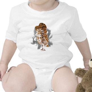 apacible-búho traje de bebé