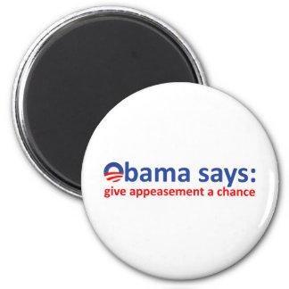 Apaciguamiento de Obama Imán Redondo 5 Cm