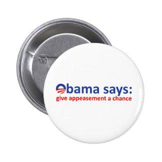 Apaciguamiento de Obama Pins