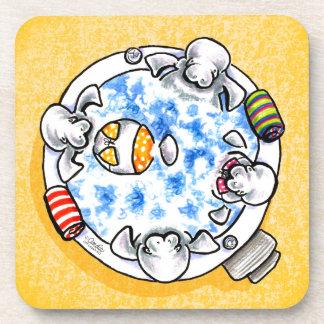 Apagado-Correo Art™ de la diversión de la tina cal Posavasos