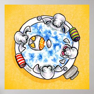 Apagado-Correo Art™ de la tina caliente de los Póster