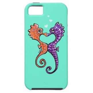 Apagado-Correo Art™ del beso del Seahorse iPhone 5 Case-Mate Carcasa