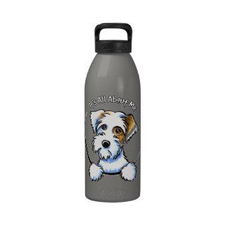 Apagado-Correo Art™ IAAM del tejón de Sealyham Ter Botella De Agua Reutilizable