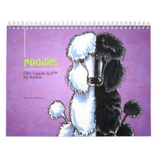 Apagado-Correo Art™ vol. 1 de los caniches Calendario De Pared