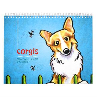 Apagado-Correo Art™ vol. 1 de los Corgis Calendario De Pared