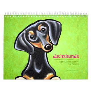Apagado-Correo Art™ vol. 1 de los Dachshunds Calendario