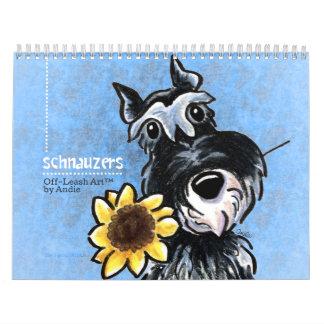 Apagado-Correo Art™ vol. 1 de los Schnauzers Calendario