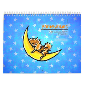Apagado-Correo Art™ vol. 1 de Pomeranians Calendarios