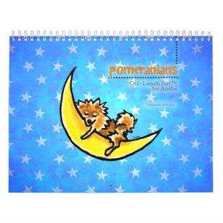Apagado-Correo Art™ vol 1 de Pomeranians Calendarios