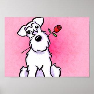 Apagado-Correo blanco Art™ del rosa del amor del S Póster