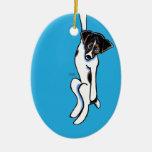Apagado-Correo ceñido Art™ de Jack Russell Ornamento De Navidad