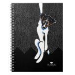 Apagado-Correo ceñido Art™ de Jack Russell Libros De Apuntes