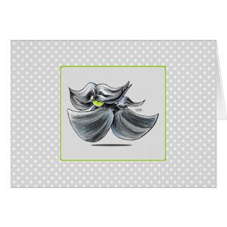 Apagado-Correo Grizzle Art™ del juego de Lasa Apso Tarjeta De Felicitación