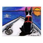 Apagado-Correo náutico Art™ de la puesta del sol Postales