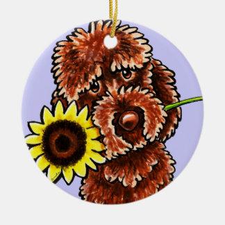 Apagado-Correo soleado Art™ de Labradoodle del cho Adornos