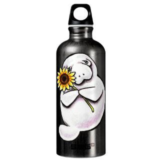 Apagado-Correo soleado Art™ del Manatee Botella De Agua