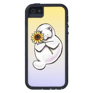Apagado-Correo soleado Art™ del Manatee iPhone 5 Carcasa