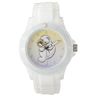 Apagado-Correo soleado Art™ del Manatee Reloj De Mano