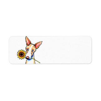 Apagado-Correo Wirehaired soleado Art™ del perro d Etiquetas De Remite