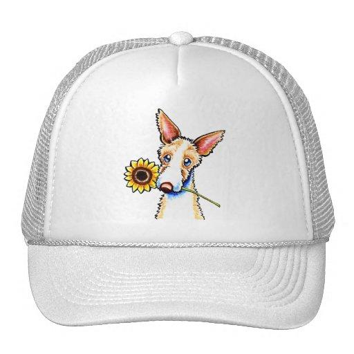 Apagado-Correo Wirehaired soleado Art™ del perro d Gorros Bordados