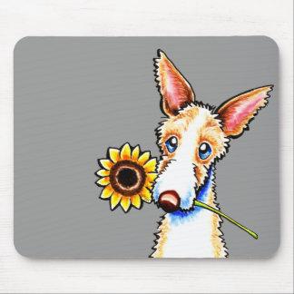 Apagado-Correo Wirehaired soleado Art™ del perro Tapete De Ratón
