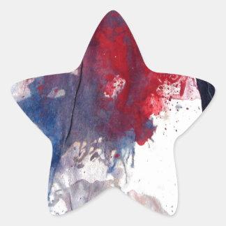 apagado haga juego el palillo pegatina en forma de estrella