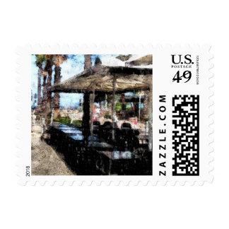 Apagado-tiempo en un restaurante timbres postales