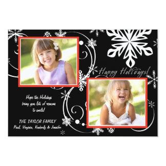 """Apagón del copo de nieve - tarjeta del día de invitación 5"""" x 7"""""""